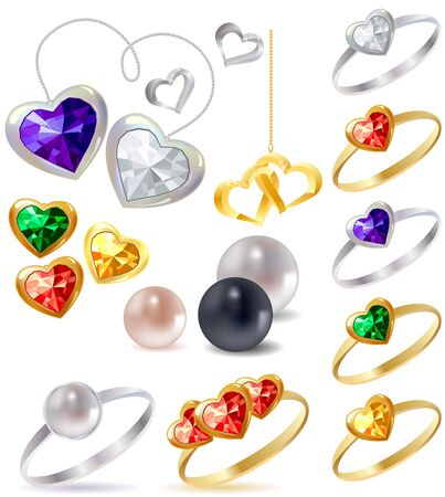 Collection of different jewels  Stock Vector - 8584449