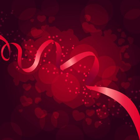 Beautiful saint valentine background with  ribbon  Vector