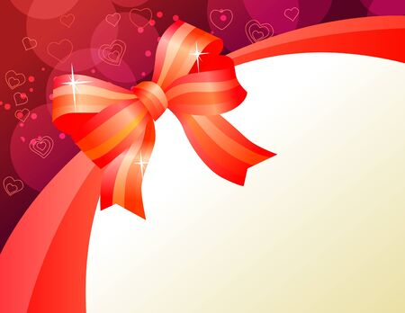 Background with red bow Stock Vector - 8584437