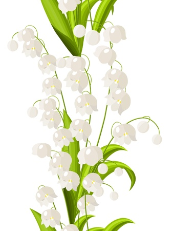 Seamless border with lily of the valley Stock Vector - 8584433