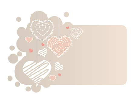 Hearts on pastel frame Stock Vector - 8584455