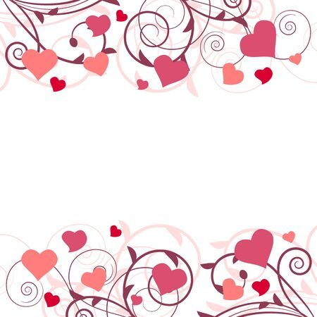 Saint valentine background with hearts Stock Vector - 8584454