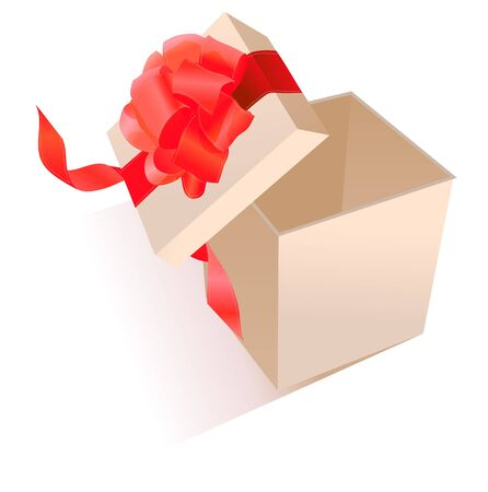 Realistic giftbox with bow Vector