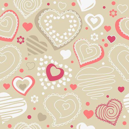 欲望: 赤い輪郭の形状とのシームレスなパターン