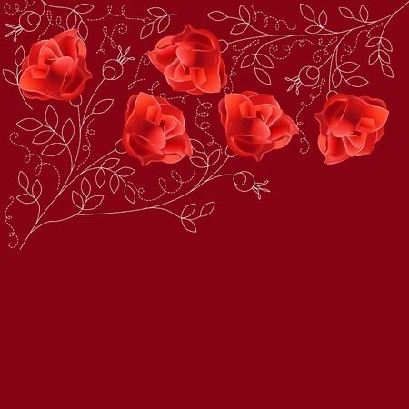Floral rose background Vector