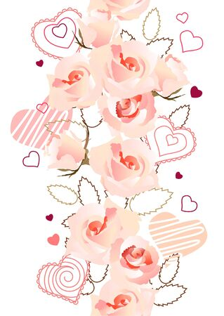 Vertical seamless rose pattern Stock Vector - 8614543