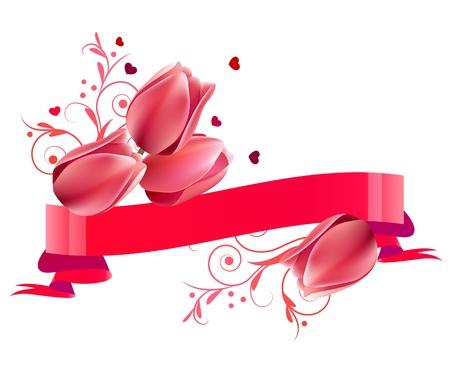 Floral Banner mit Tulpen