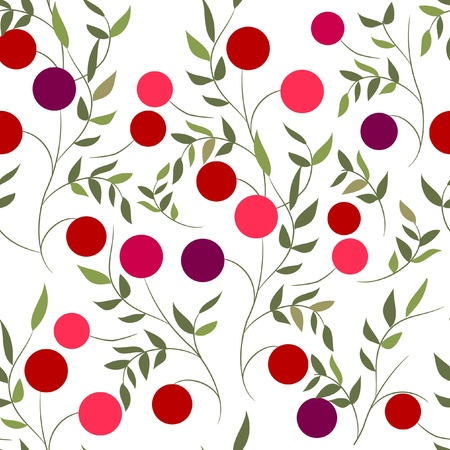 wild berry: Seamless pattern with berries Illustration