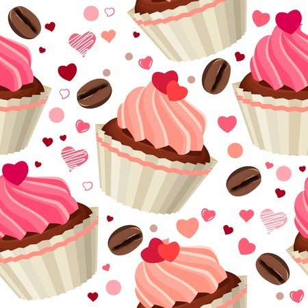 Seamless pattern with chocolates Vector