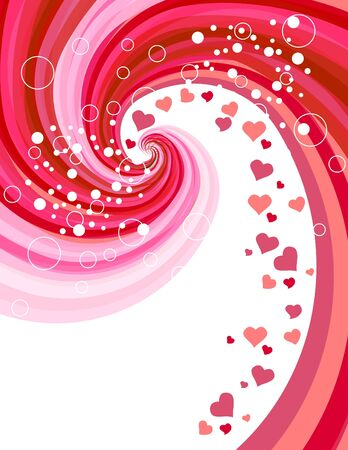 Red hearts on abstract background Stock Vector - 8639000