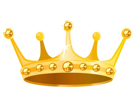 king crown: Gold crown