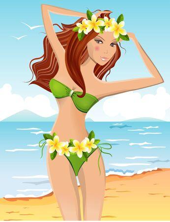 panty: Young girl in bikini