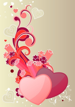Two hearts  Stock Vector - 8659167