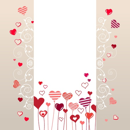 Growing stylized hearts  Vector