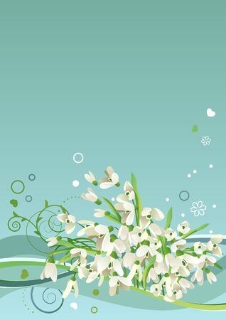 Frame with snowdrops Stock Vector - 8659157