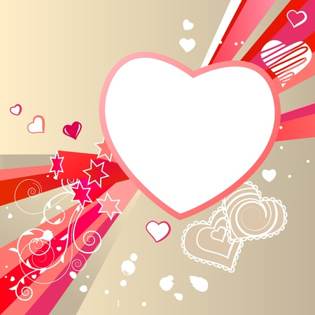 Frame with heart and modern elements Vector