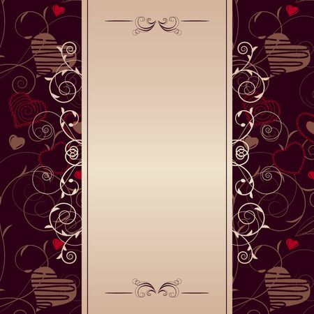 Frame with stylized hearts Stock Vector - 8659210