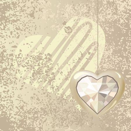 Heart on light background Vector