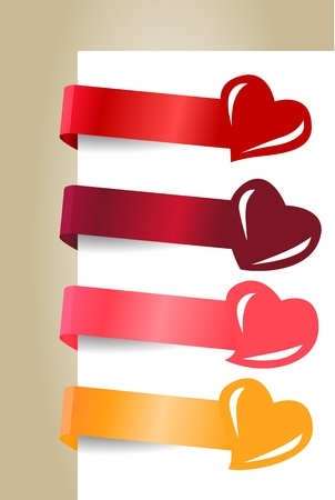 Different paper tags Vector