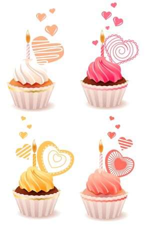 Sweet small cakes photo