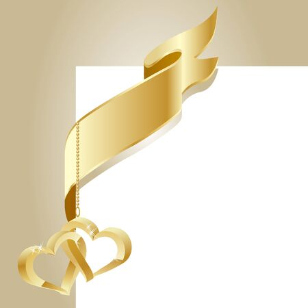 parchment scroll: Gold flag