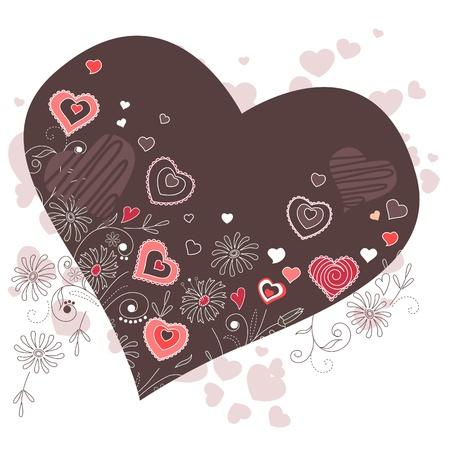 heartshaped: Dark heart-shaped frame