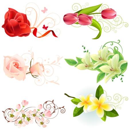 Elementos de dise�o floral