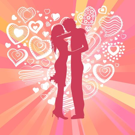 Young happy couple Stock Vector - 8714536