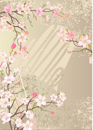 sample text: Blossoming apple branch
