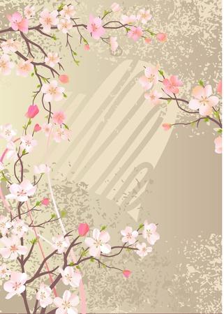 꽃이 만발한: Blossoming apple branch