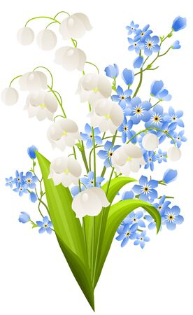 Bunch of lilies of the valley Stock Vector - 8714531