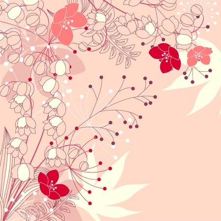 Floral background with stylized flowers Stock Vector - 8714533