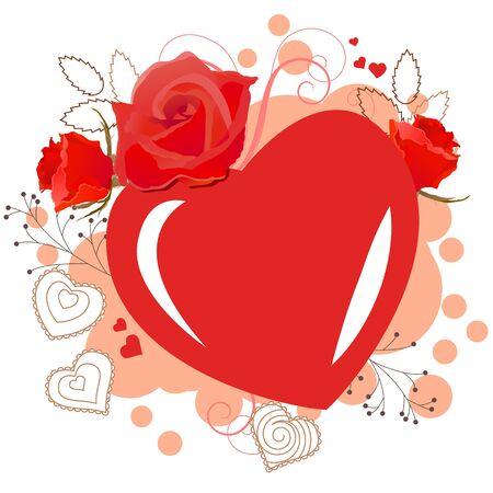 rd: Telaio a forma di cuore Rd Vettoriali