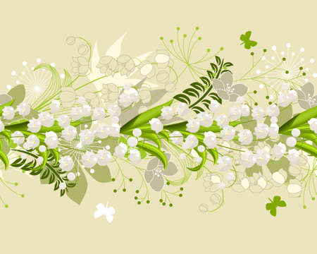horisontal: Seamless horisontal floral pastel pattern