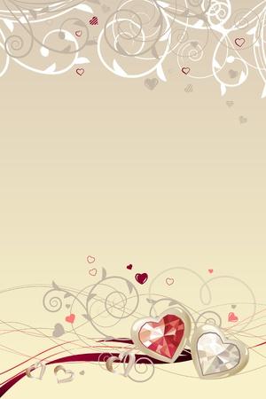 Marco con corazones de oro