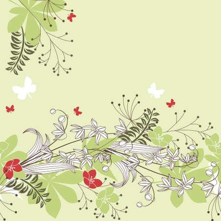 Seamless horisontal floral pastel pattern Stock Vector - 8813940