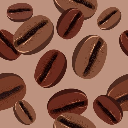 stimulate: Seamless pattern with coffee beans