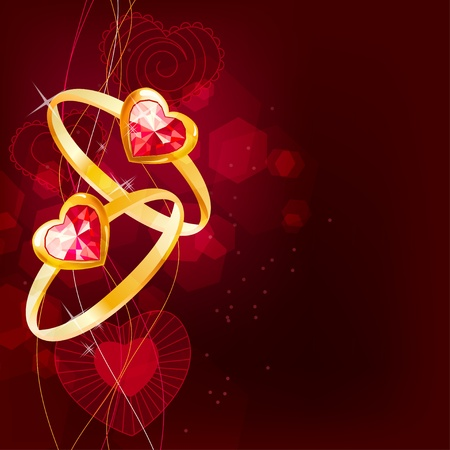 lustre: Two gold rings