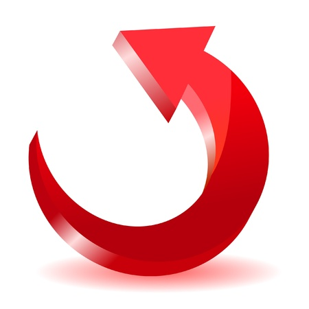 circular arrow: Red arrow