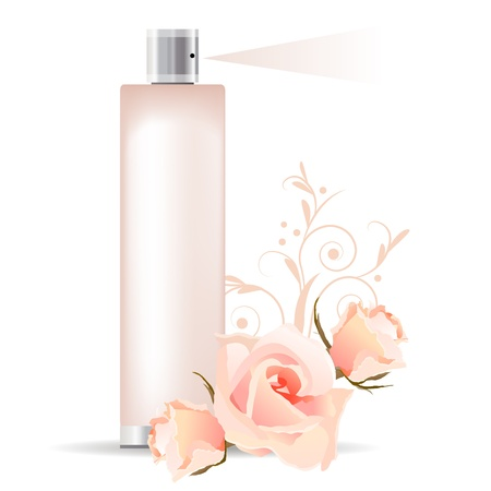 Rose perfume Stock Vector - 8813989