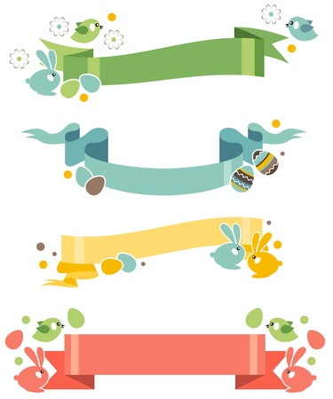 Four easter banners Vector
