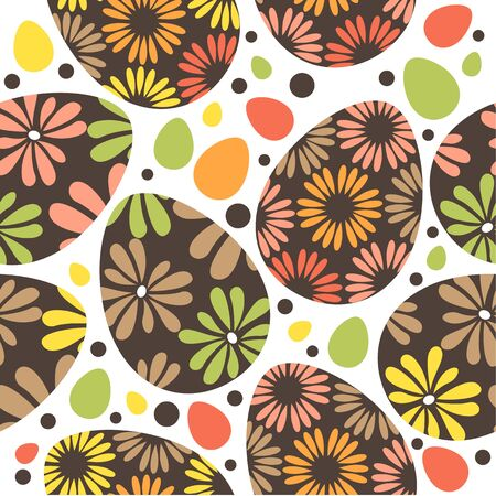 Seamless easter pattern with eggs Stock Vector - 8909537