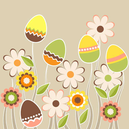 Growing easter eggs Stock Vector - 8909535