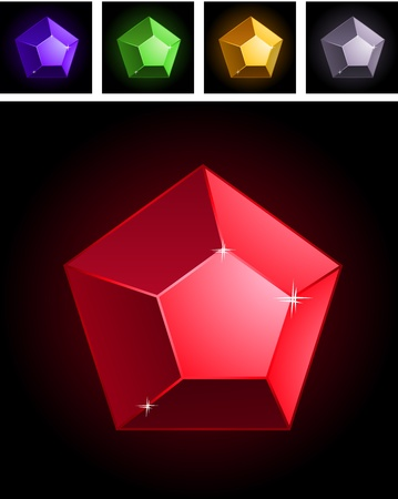 Collection of stylized gems Vector