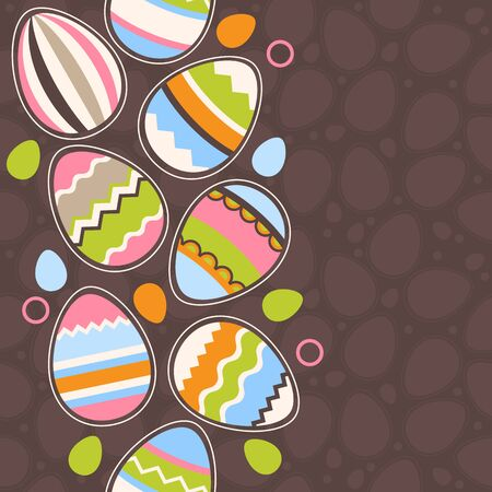 orthodox easter: Greeting card wirh easter eggs