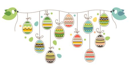 stylize: Easter decoration with birds