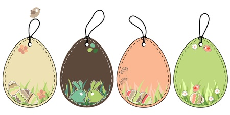 childish: Set of easter tags