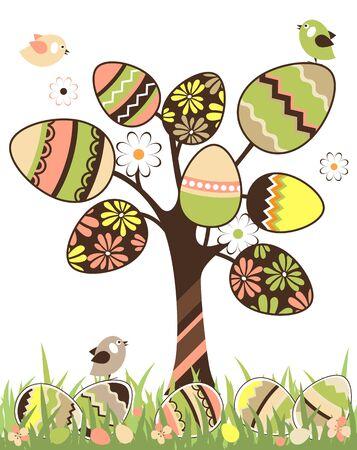 orthodox easter: Easter tree Illustration