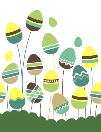 orthodox easter: Growing easter eggs
