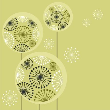 flowers fluffy: Beautiful stylized dandelions